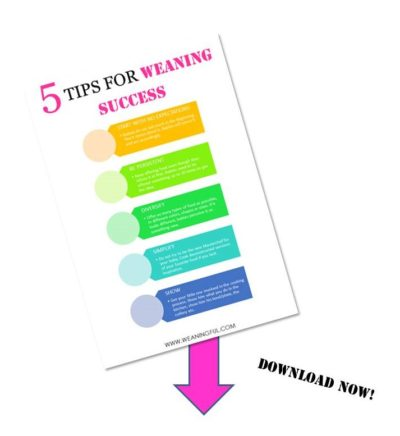 weaning success tips checklist download