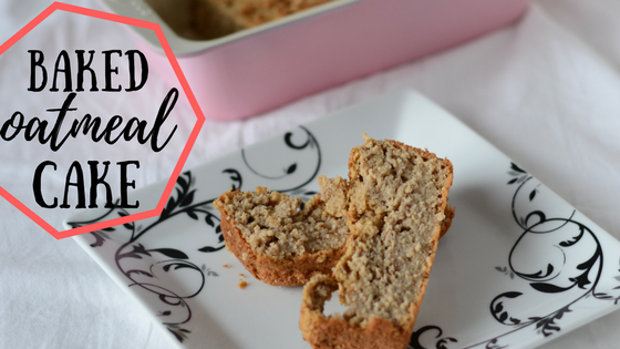 baked oatmeal cake (a BLW recipe) homemade baby food