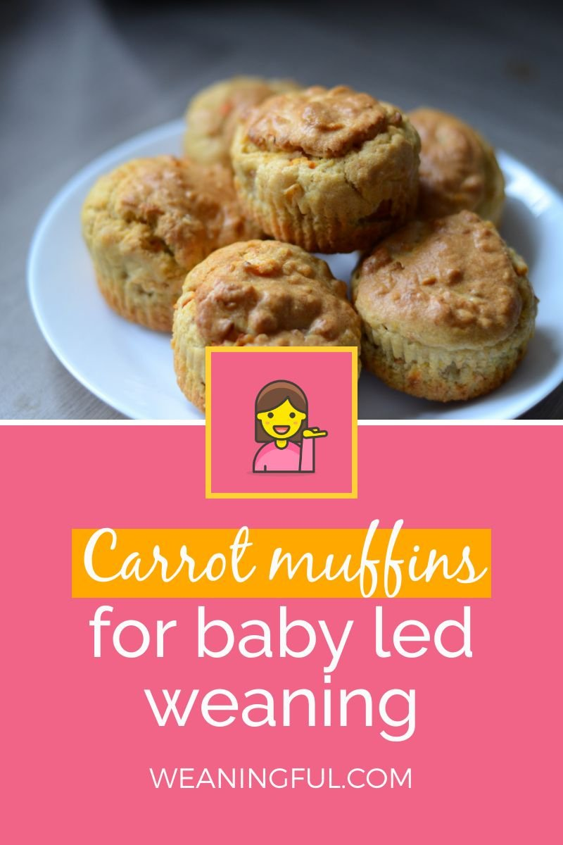 These carrot muffins are great for babies and toddlers and make great finger food from 6 months and up.