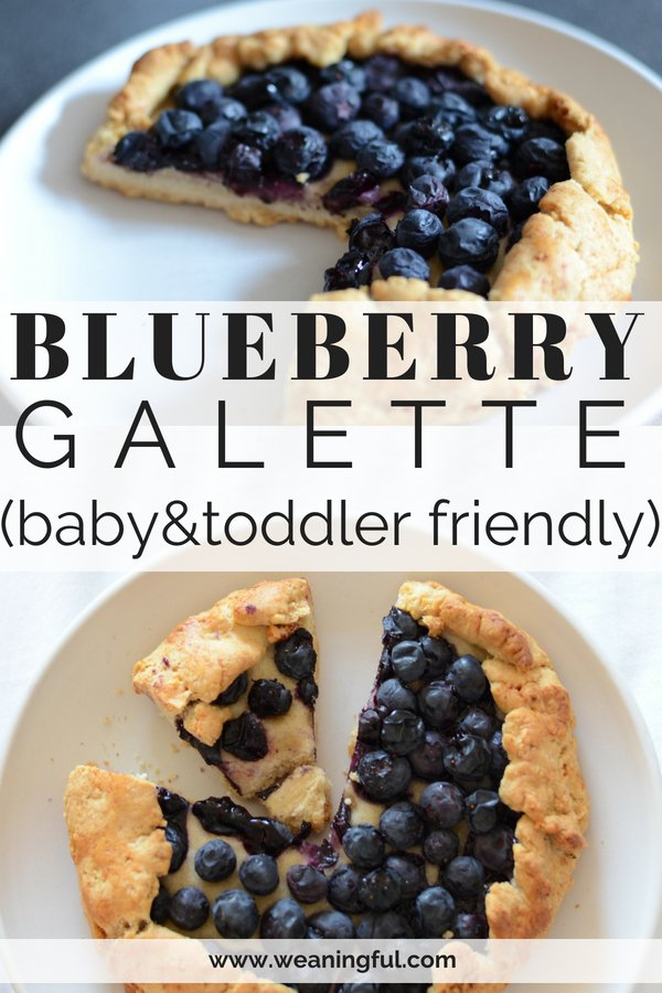 This baby friendly dessert is perfect finger food for baby led weaning and great when introducing solids at 6 months+. It's also good for practising the pincer grasp, as babies will go for the blueberries on top.