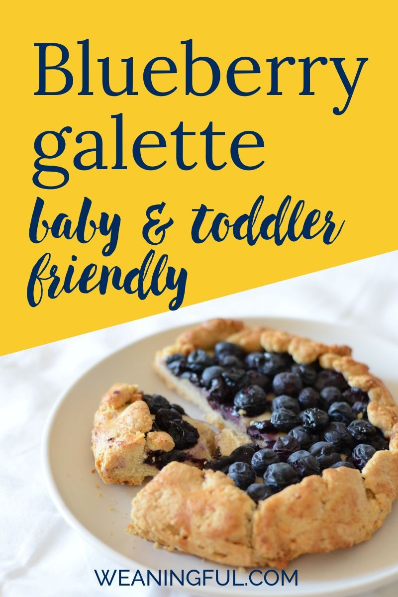 This baby friendly dessert is a great breakfast idea for little ones just starting solids but also toddlers and older kids who might find the blueberries the perfect means to get a bit messy.