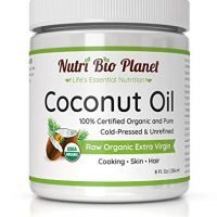 NutriBioPlanet Raw Organic Extra Virgin Coconut Oil, Unrefined, 8 Ounces