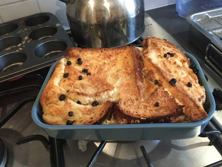 Baby friendly bread and butter pudding