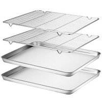 Baking sheets with cooling racks