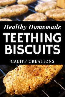 healthy homemade teething biscuits with seeds