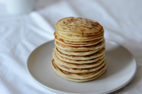 fluffy pancakes made with only 3 ingredients - great finger food for babies and toddlers alike