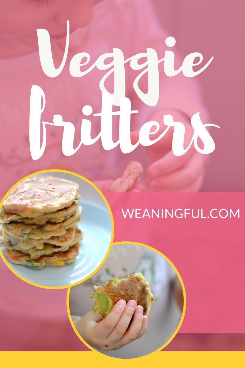 First foods for babies need to include as much fruit and veggies as possible. These veggie fritters are the perfect finger food and the batter is suitable for sweet fillings as well.