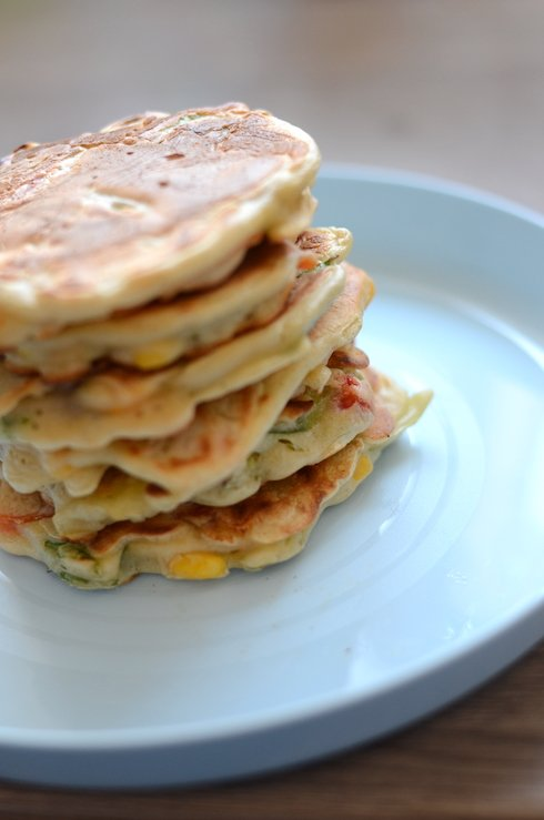 stack of veggie fritters