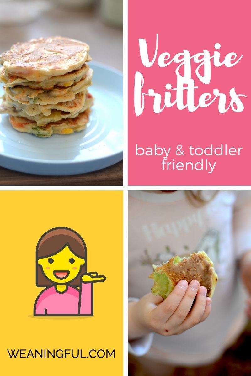These healthy and easy veggie fritters for babies and toddlers are great finger food from 6 months and up and are packed with great nutrients for kids.