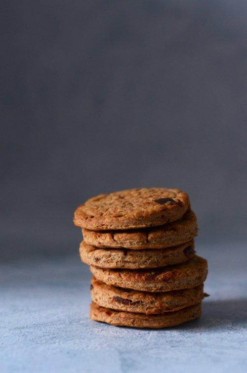 stack of winter biscuits with spices