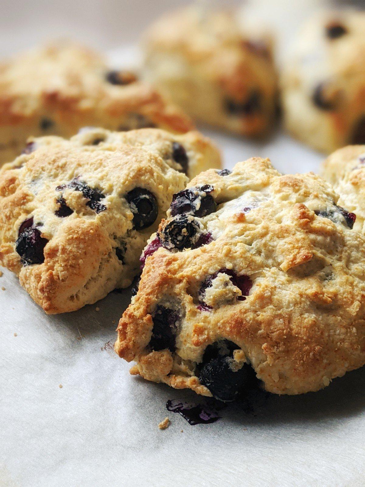 easy scones recipe with blueberries