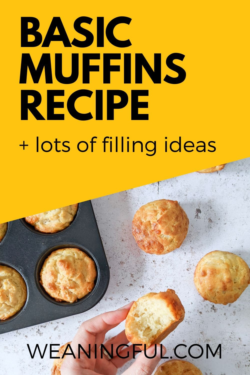 This basic muffins recipe is great for baby, toddlers and older kids and can be filled with almost anything you can think of. Great finger food and also lunchbox idea.