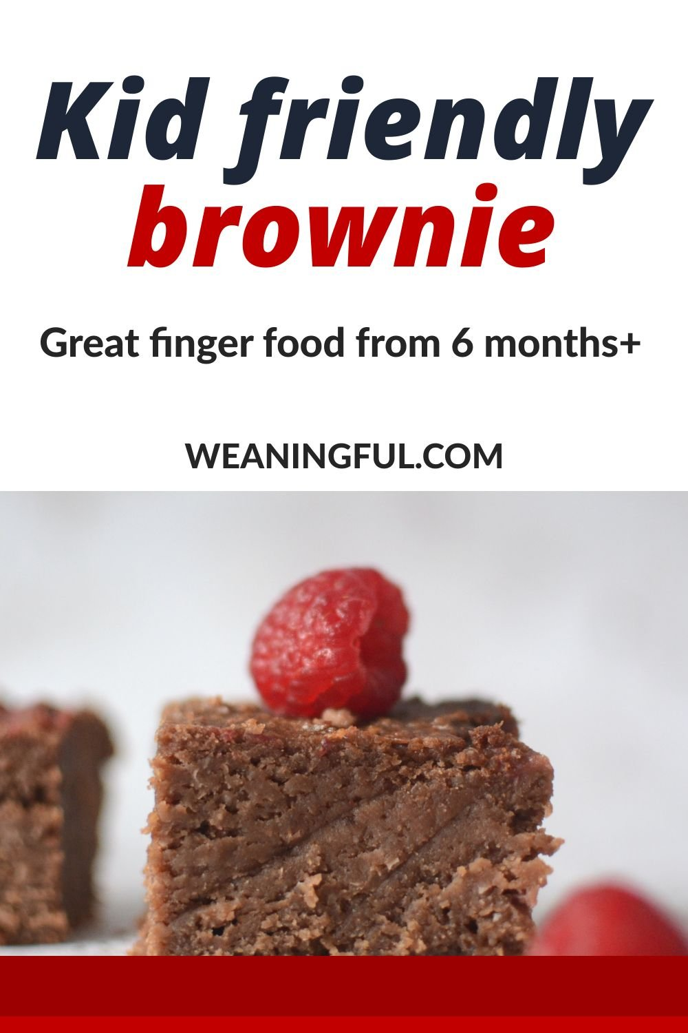 This kid friendly brownie is great for babies just starting solids at 6 months+, picky toddlers who like to eat like the grownups do or older kids who would like a healthy treat from time to time. Makes great finger food, even for babies with no teeth.